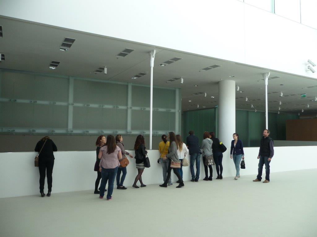 studenci WST na terenie NOWEJ SIEDZIBY MUZEUM SLASKIEGO w Katowicach