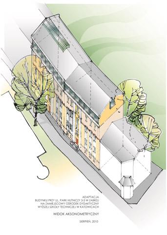rewitalizowany budynek w zabrzu – wizualizacja