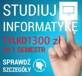 Promocja Informatyka za 900 zł / I semestr