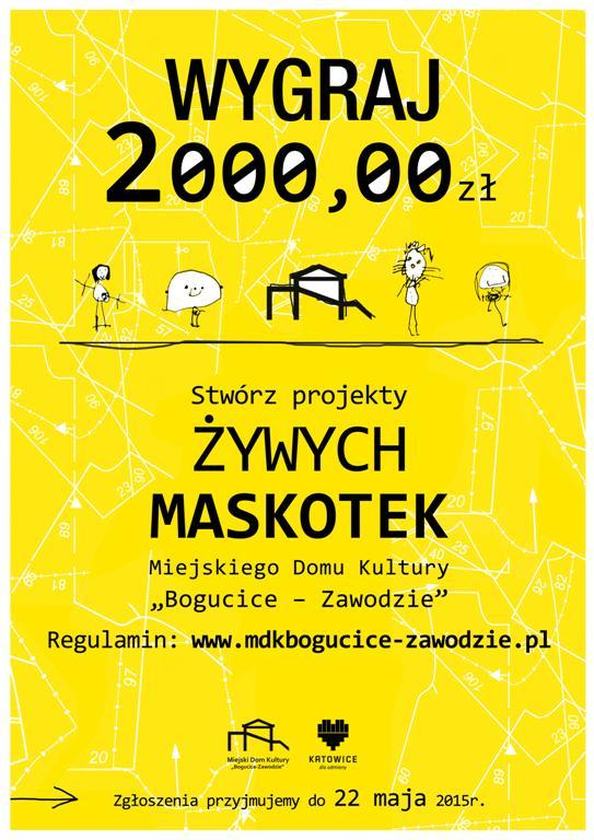 Konkurs na projekt kompletu strojów w formie maskotek miejskiego domu kultury