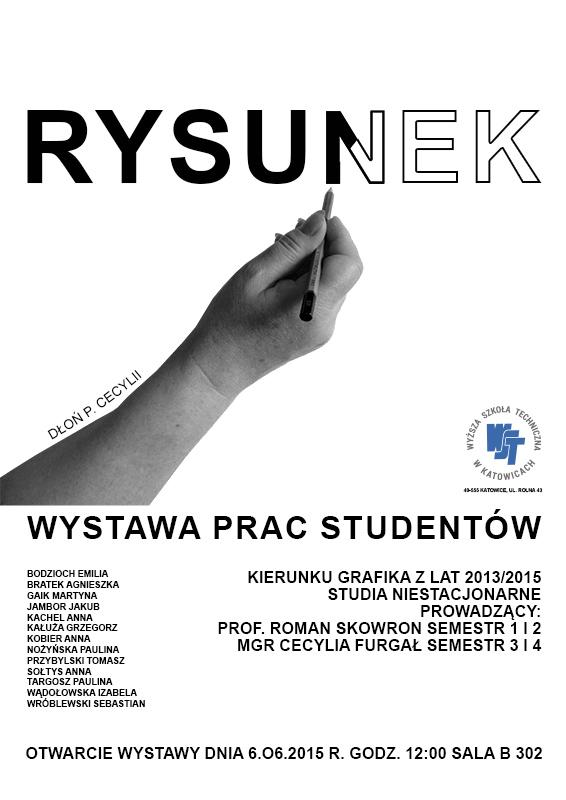 Wystawa prac studentów - RYSUNEK