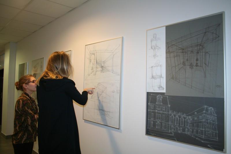 Wystawa prac studentów kierunku Architektura Wnętrz w Galerii WST