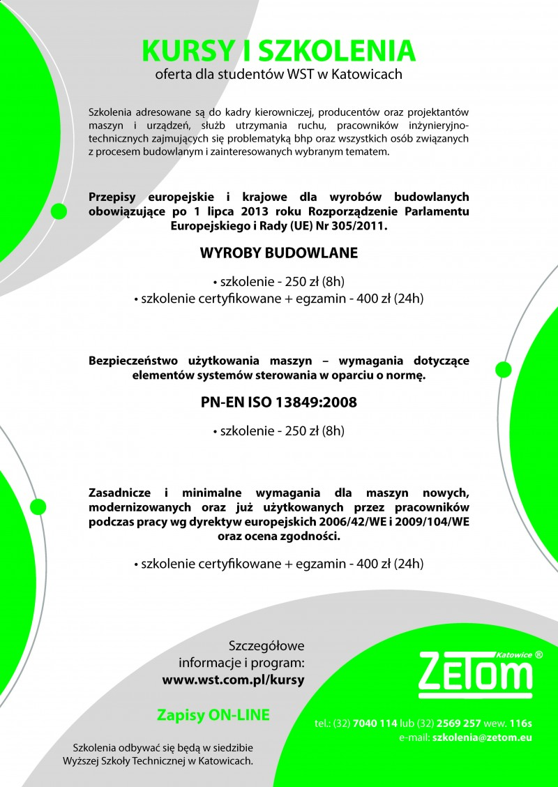 Kursy dla studentów WST
