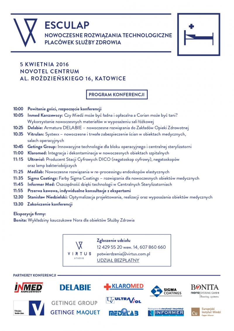 konferencja: NOWOCZESNE ROZWIĄZANIA TECHNOLOGICZNE PLACÓWEK SŁUŻBY ZDROWIA