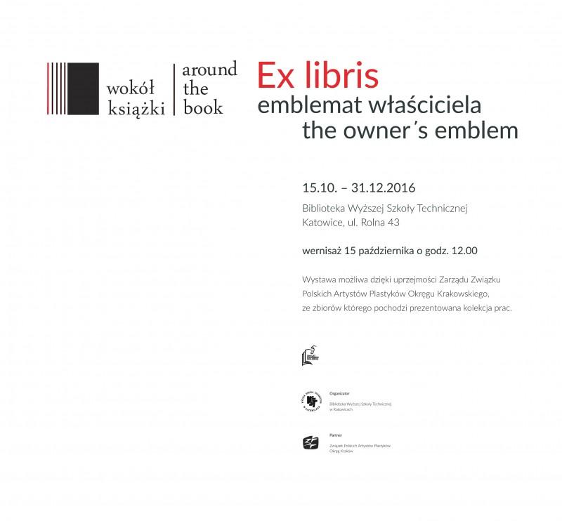 Wystawa  Ex libris emblemat właściciela w Bibliotece WST