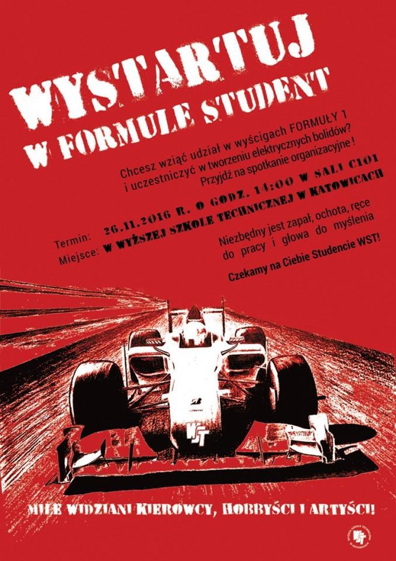 Wystartuj w formule Student. Spotkanie organizacyjne już 26 listopada