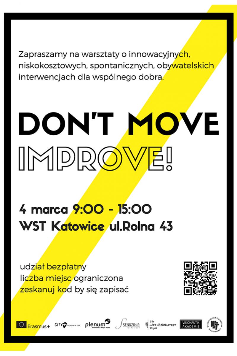 """Bezpłatne warsztaty innowacji """"Don't move, improve!"""""""