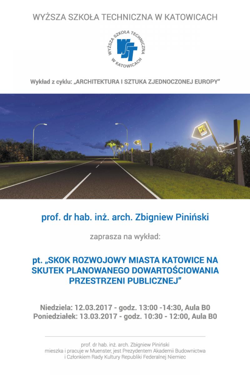 wykład gościnny prof. Zbigniewa Pilińskiego