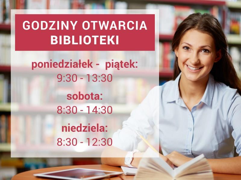 Godziny funkcjonowania czytelni  i biblioteki WST  w roku akademickim 2017/2018