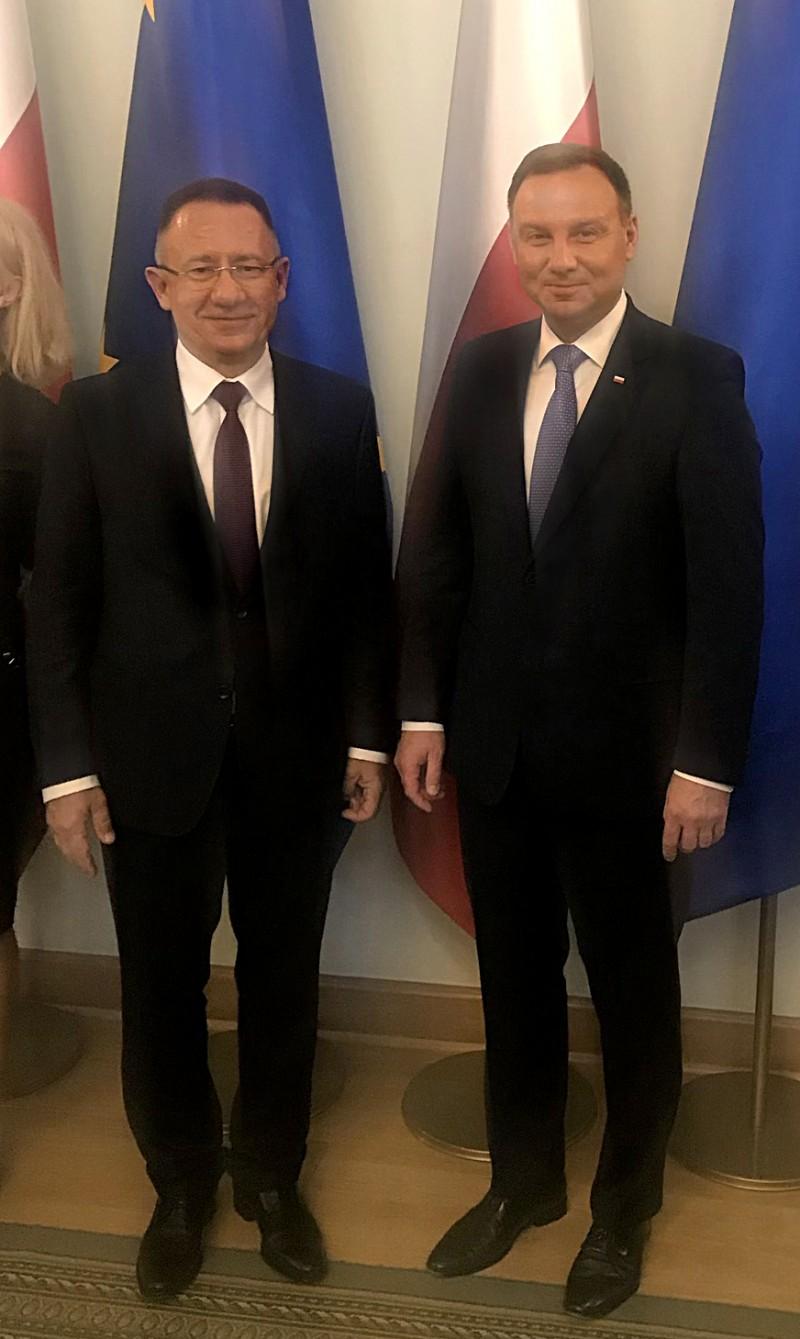 Spotkanie Prezydenta RP Andrzeja Dudy z Kanclerzem WST Arkadiuszem Hołdą.