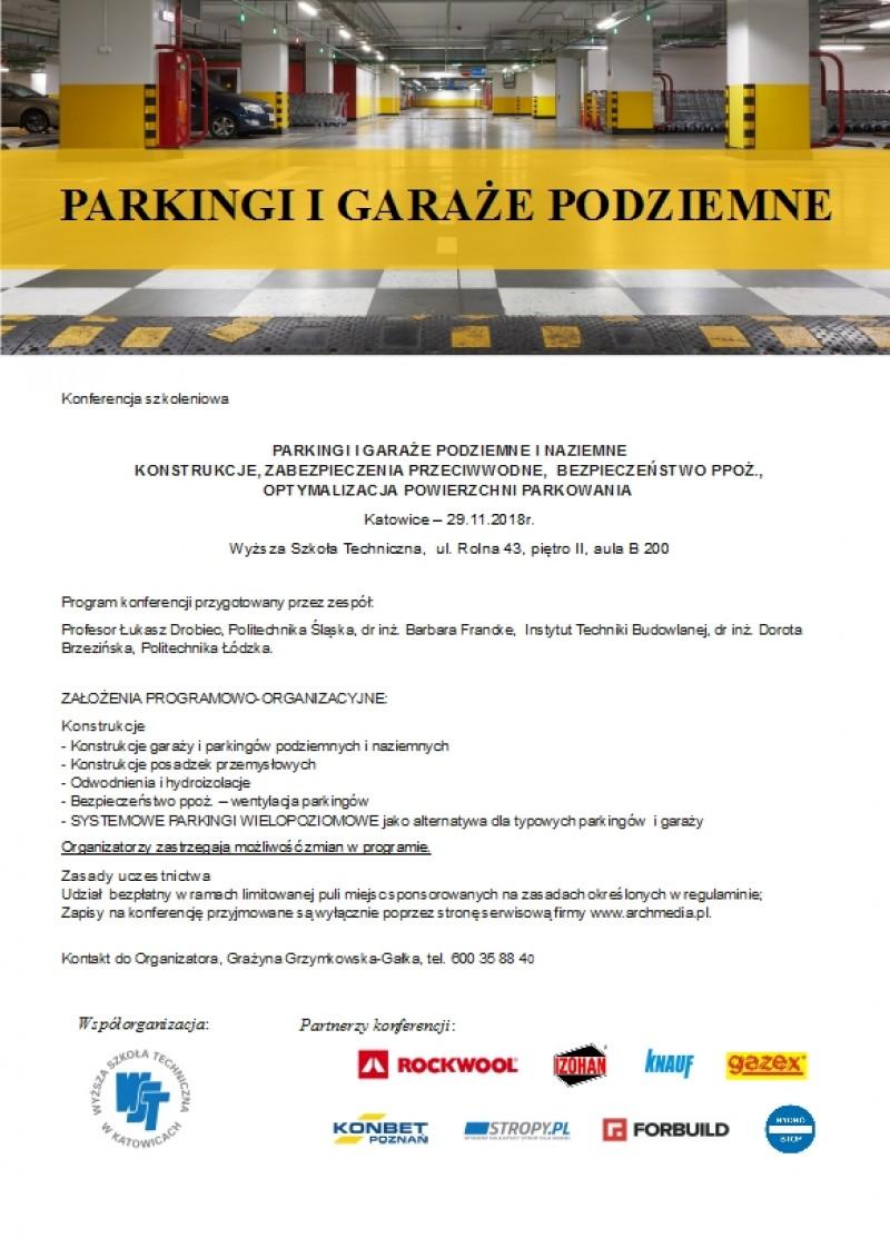 parkingi i graże podziemne - Konferencja szkoleniowa