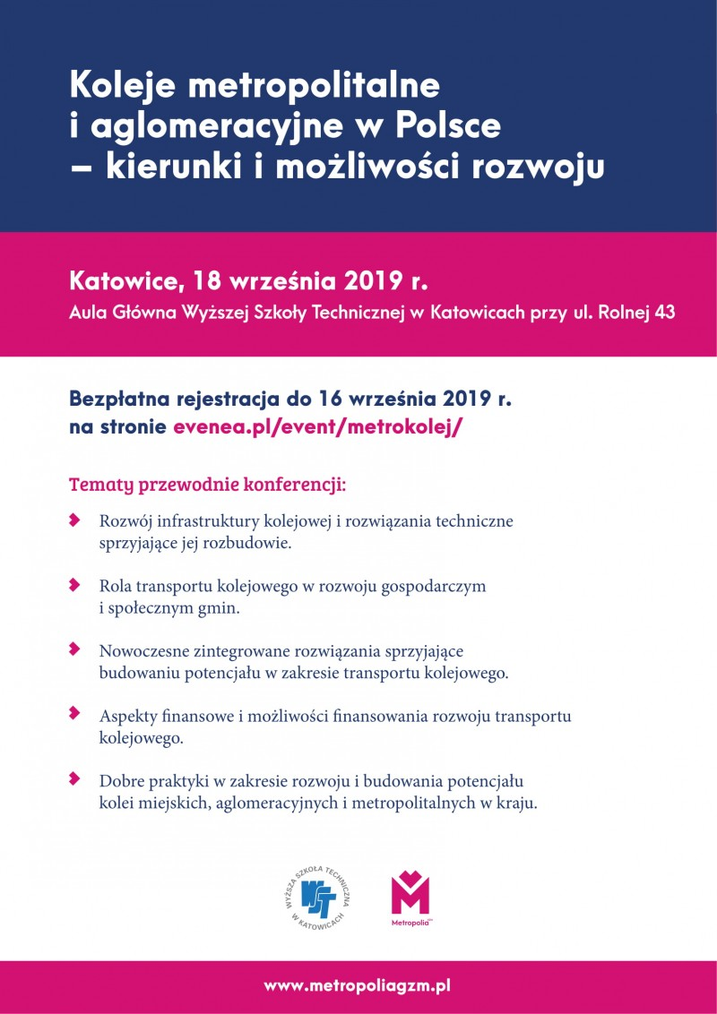 Koleje metropolitalne i aglomeracyjne w Polsce - kierunki i możliwości rozwoju