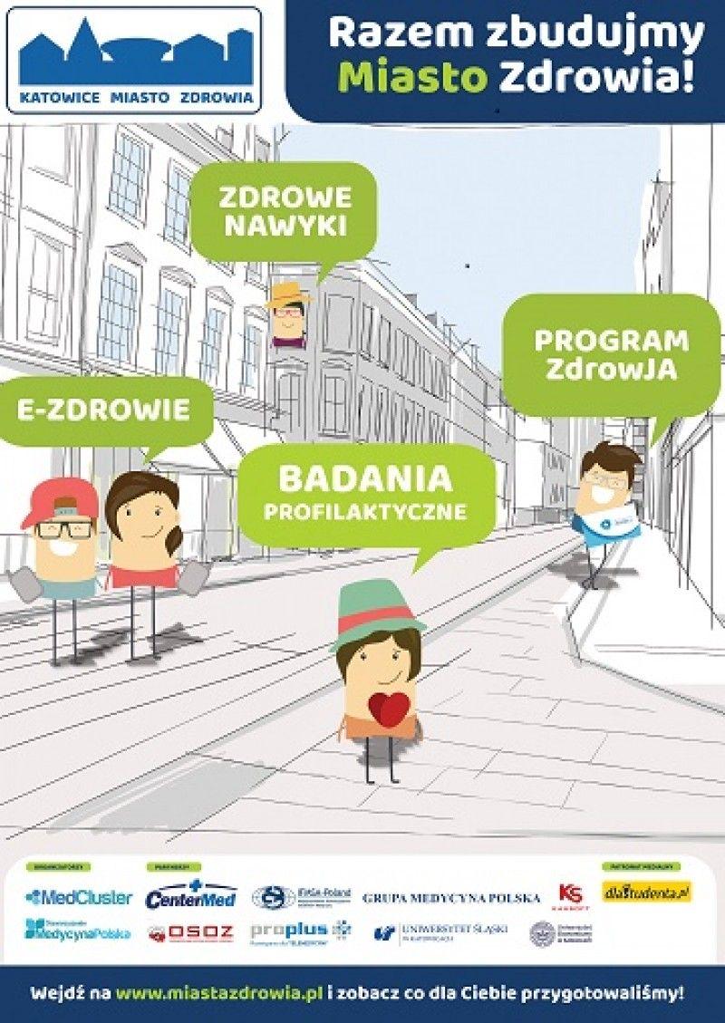 """Zapraszamy na akcję profilaktyczną w ramach projektu """"Katowice – Miasto Zdrowia""""."""