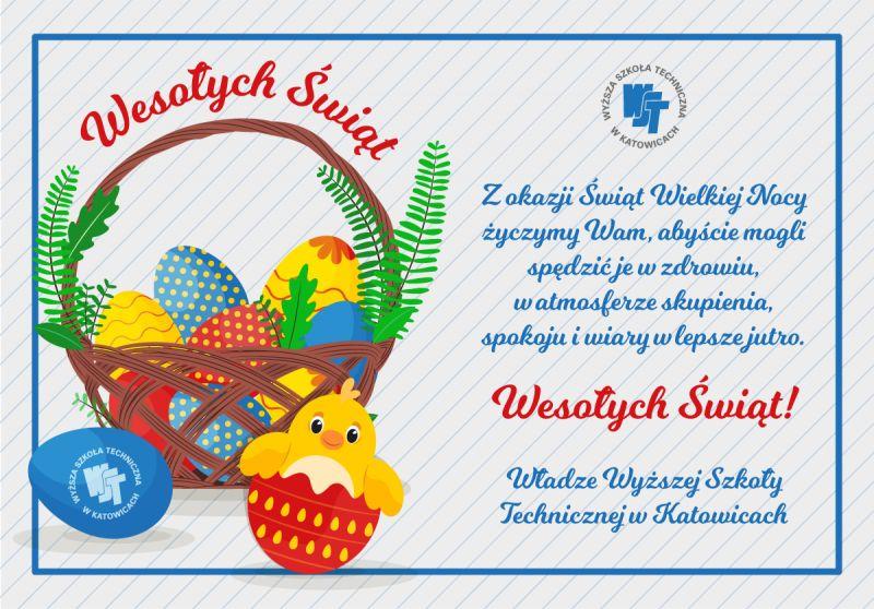 Zdrowych, pogodnych i spokojnych Świąt Wielkanocnych